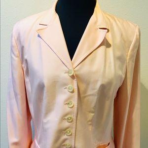 LAUREN Ralph Lauren SILK Pink Blazer Size 12